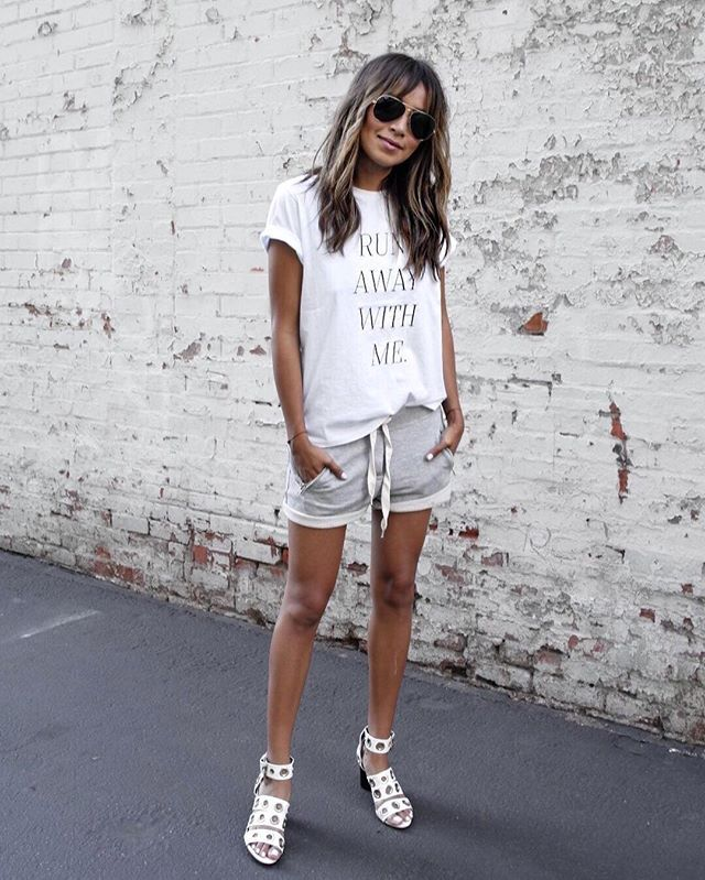 A little sporty with a little posh. ❤️ / Tee + Lux Jogger Shorts: shopsincerelyjules.com