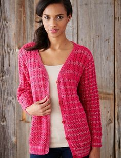 Love and Lace Knit Cardigan - Yarn Weight: (3) DK