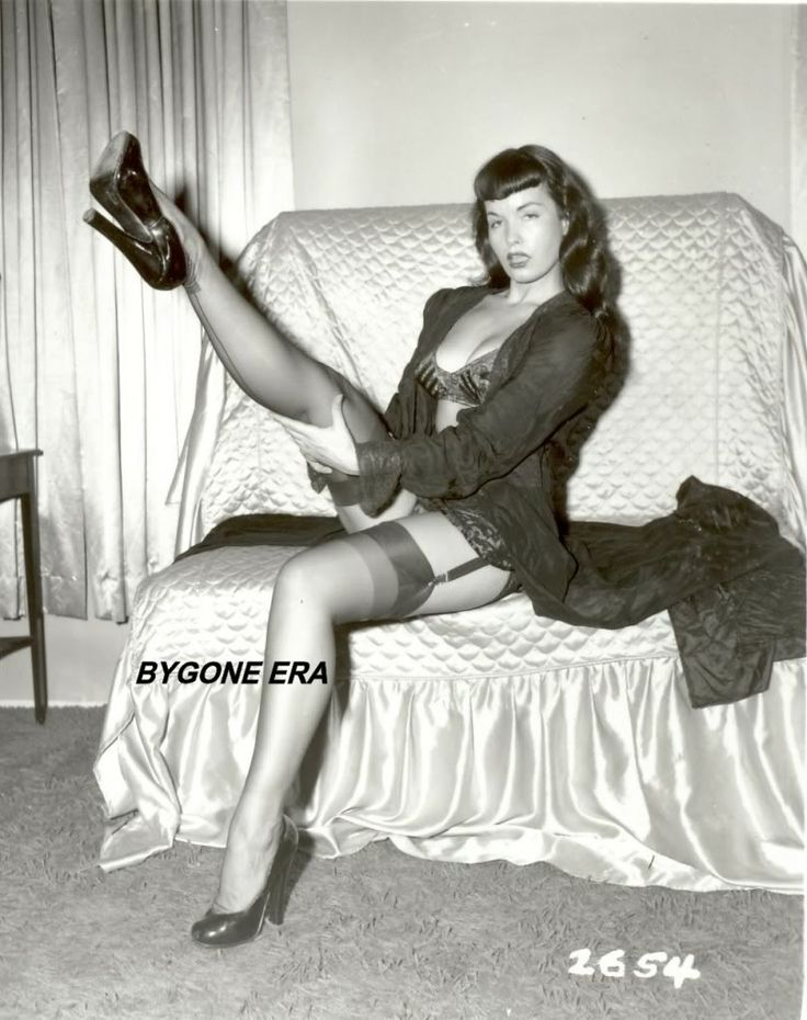 Bettie Page Stockings Photo Pinup Girl Photos 8x10 Girl
