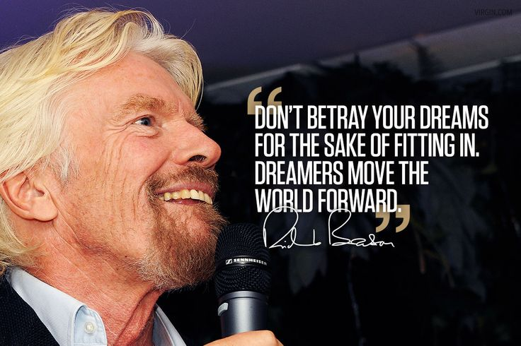 Richard Branson photoquote dreams  #richardbransonquotes