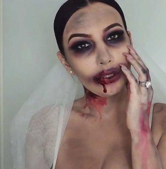 Easy Halloween Makeup - Zombie Bride - CosmopolitanUK