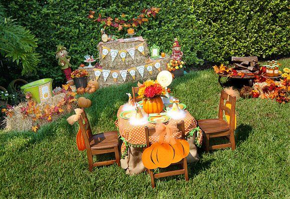 pumpkin party. love this decoration idea!