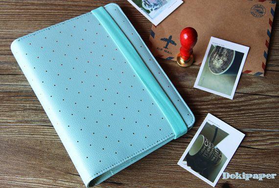 A5 Mint blue Journal Planner/Refillable planner/ A6 by Dokkipaper