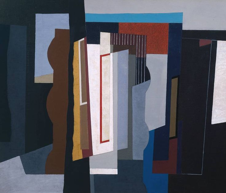 herzogtum-sachsen-weissenfels: John Piper (English, 1903-1982), Abstract I, 1935. Oil on canvas on plywood.