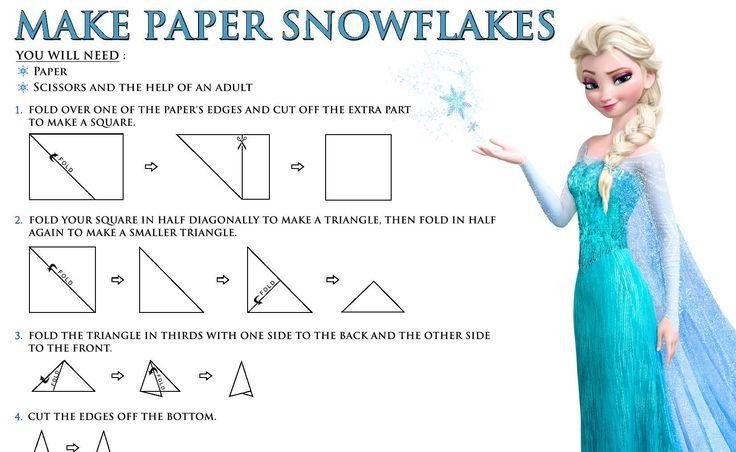 More fun and FREE Disney's Frozen Printables! Make snowflakes to decorate for winter!