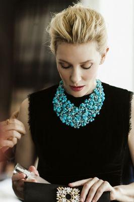 Cate Blanchett - TIffany Statement Necklace jewelry woman - http://amzn.to/2iQZrK5