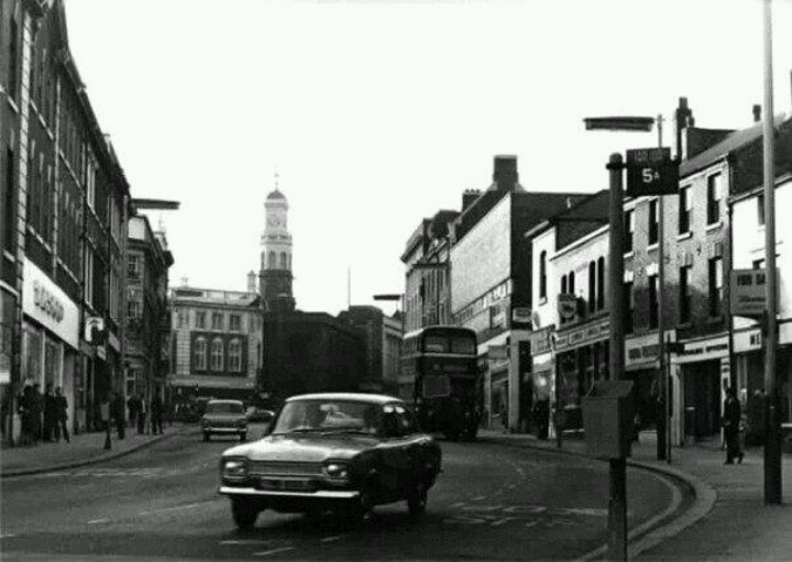 Buttermarket street. The odeon cinema was on the far right of the picture.