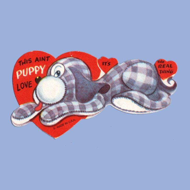Valentine S Day Dog Toys : Details about vintage valentine s day card