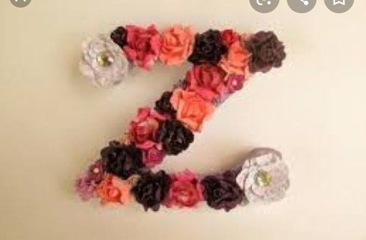 Pin By Zainab Ahsan On Letter Wall Letters Nursery Flower Names Etsy