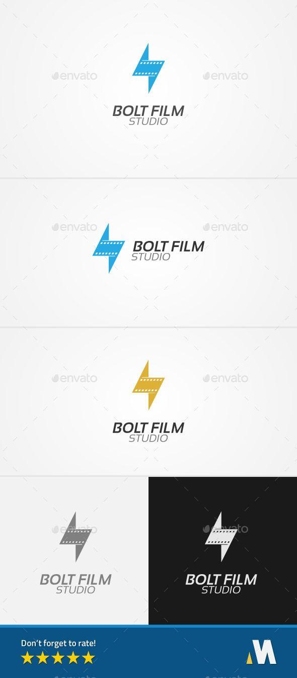 Bolt Film or Lightning Movie Studio — Vector EPS #entertain #video • Available here → https://graphicriver.net/item/bolt-film-or-lightning-movie-studio/11476830?ref=pxcr