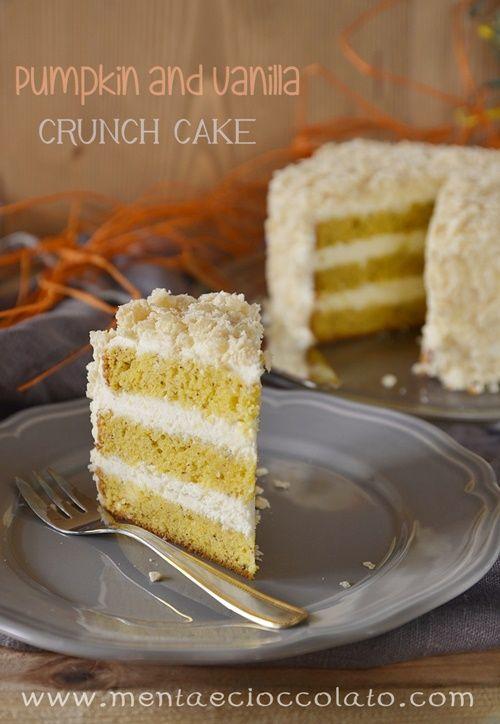 Torta alla zucca e vaniglia  Pumpkin crunch cake