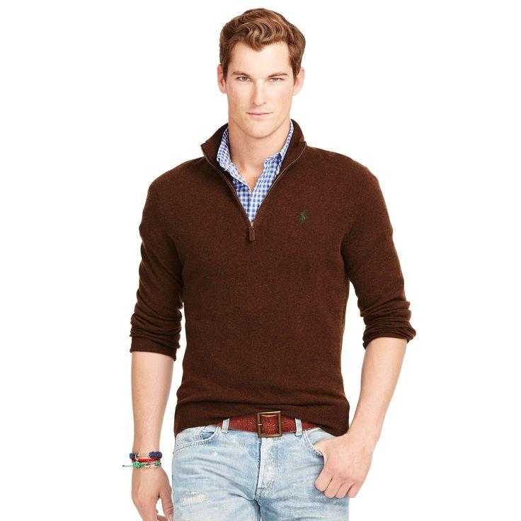 Wool Half-Zip Sweater - Zipped Jumpers - Ralph Lauren UK