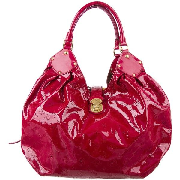 Pre-owned Louis Vuitton Surya XL Hobo ($1,025) ❤ liked on Polyvore featuring bags, handbags, shoulder bags, purple, louis vuitton shoulder bag, louis vuitton handbags, louis vuitton purse and louis vuitton