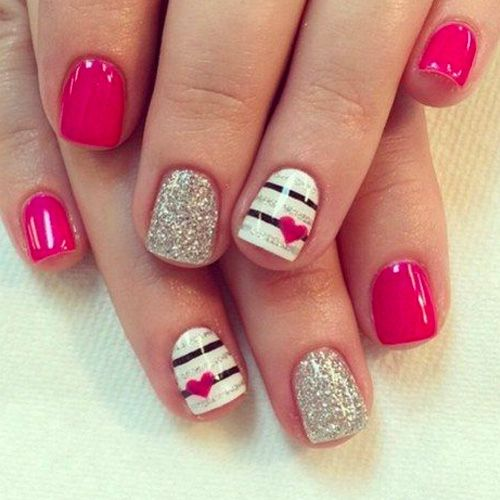 22 Best Valentine's Day Nail Designs for 2018 - Nail Art HQ - 22 Best Valentine's Day Nail Designs For 2019 Nail Designs