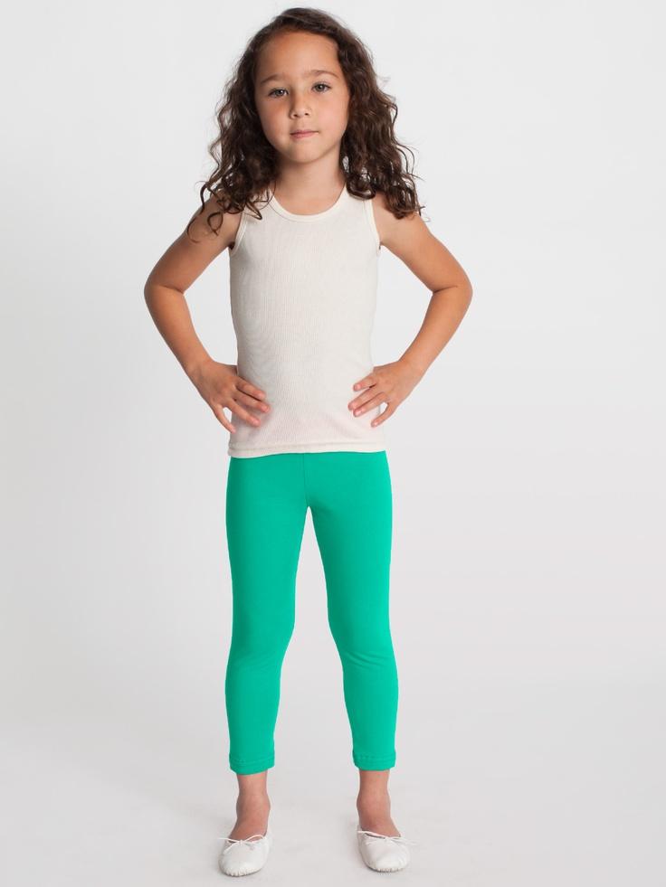Kids Cotton Spandex Jersey Legging 2 6 Years Kids