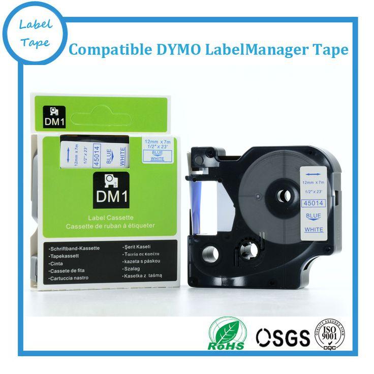 5PK совместимый dymo d1 этикетки лента Синий на Белом Фоне для LabelManager Производители, 1/2 ш х 23 футов (DYMO D1 45014)