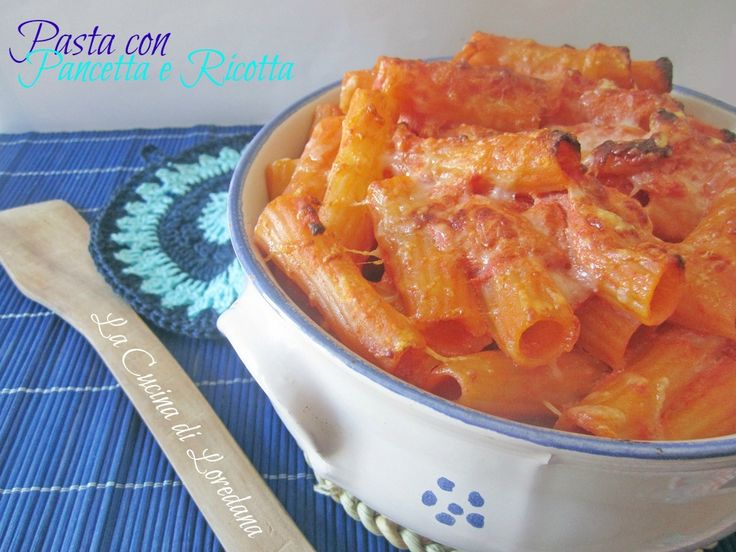pasta con pancetta e ricotta