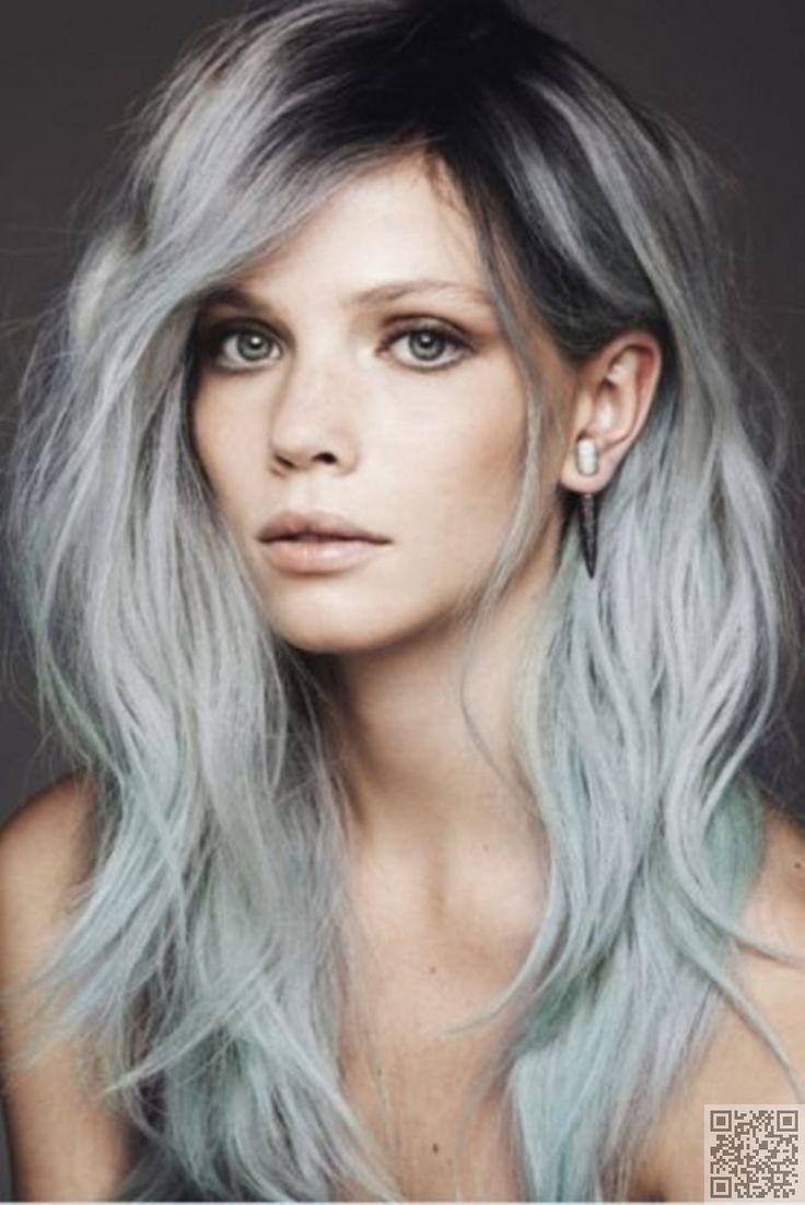 15. #ombre gris - 43 filles #cheveux Pastel à bascule... →  Hair