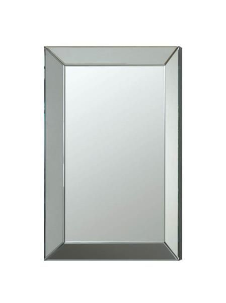 Gallery For Website Contemporary Silver Accent Frameless Beveled Mirror