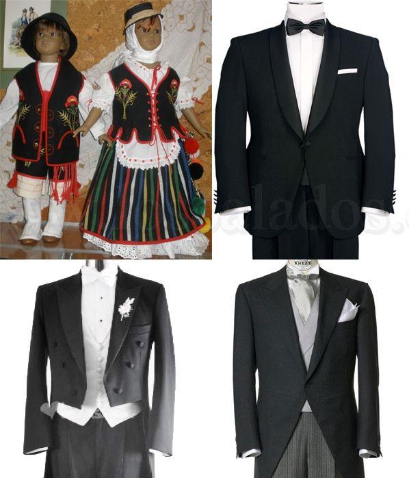 Alquiler de trajes de etiqueta y típicos.