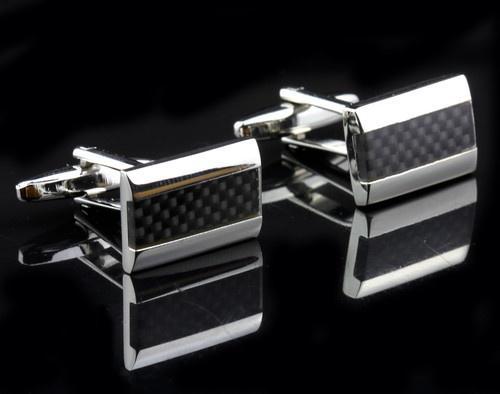 CCC001L 18mm New Fancy Silver Black Cufflinks Cuff Links for Shirt | eBay
