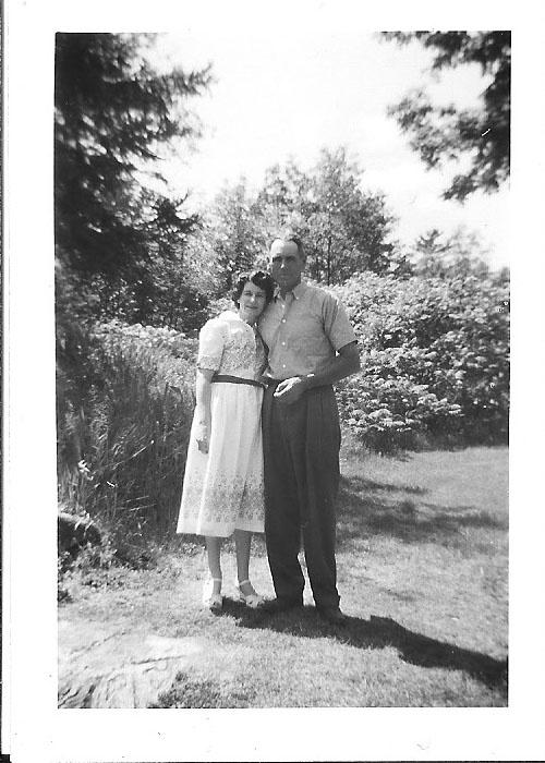 Mom & dad at Gravenhurst TB Sanitarium, 1958. This is a rare shot of them embracing. Nice, eh?