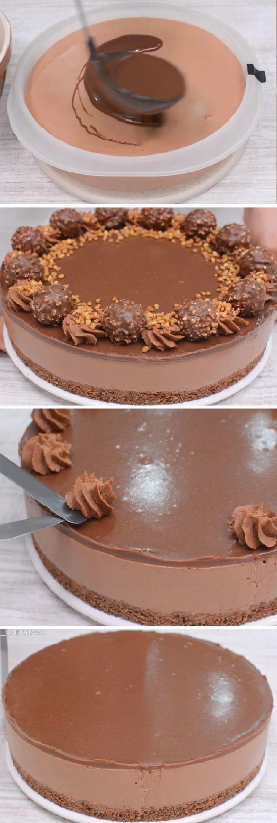 Tarta de Ferrero Rocher y Nutella. Lo que me encanta de esta tarta es que aparte de estar deliciosa, no necesitamos horno para hacerla. #tartaferrero #ferrero #rocher #nutella #ferrerorocher #tortaferrero #tortachocolate #sinhorno #cheesecake #postres #cakes #pan #panfrances #panettone #panes #pantone #pan #recetas #recipe #casero #torta #tartas #pastel #nestlecocina #bizcocho #bizcochuelo #tasty #cocina #chocolate Si te gusta dinos HOLA y dale a Me Gusta MIREN...