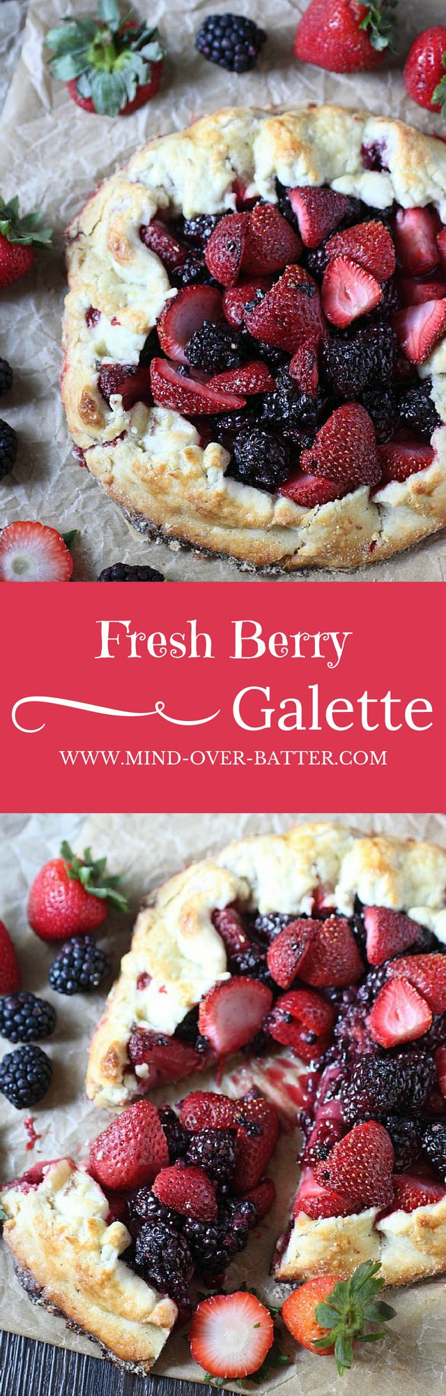 Fresh Berry Galette --- www.mind-over-batter.com