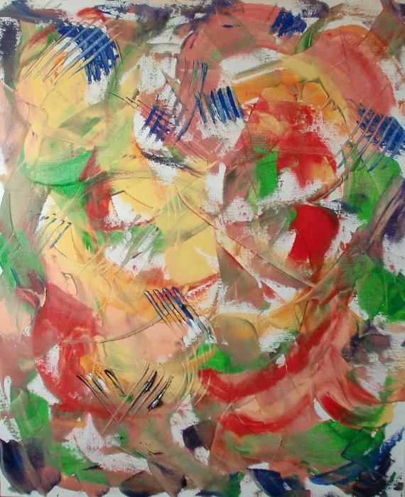 2 Original abstract painting oil  Fineart painting  Wallart