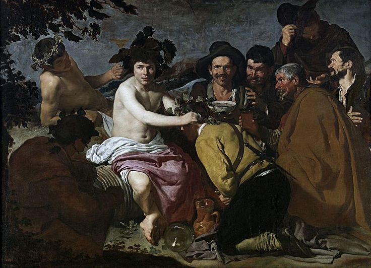 The Triumph of Bacchus is a 1628 painting by Diego Velázquez, now in the Museo del Prado, in Madrid. The painting shows Bacchus surrounded by drunks. It is popularly known as Los borrachos or The Drinkers .