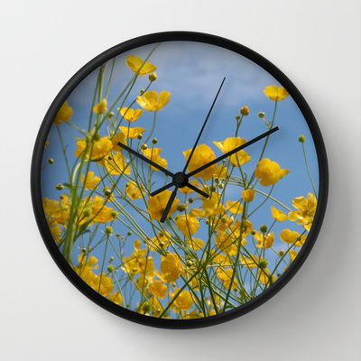 Wall Clock • 'Smørblomst' • IN STOCK • $30.00 • Go to the store by clicking the item.