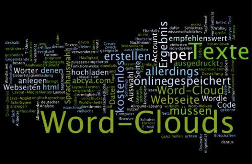 Word-Cloud-Generatoren z.B. um verschiedene Themen oder  Stärken der Schüler zu visualisieren
