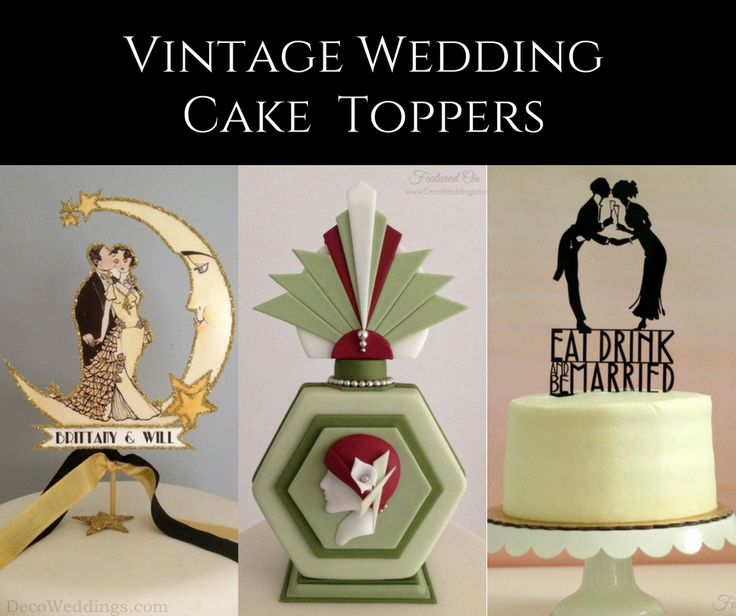 Vintage Wedding Cake Toppers | Art Deco Cakes | 1920s Cake Toppers | Gatsby Wedding Cake Toppers