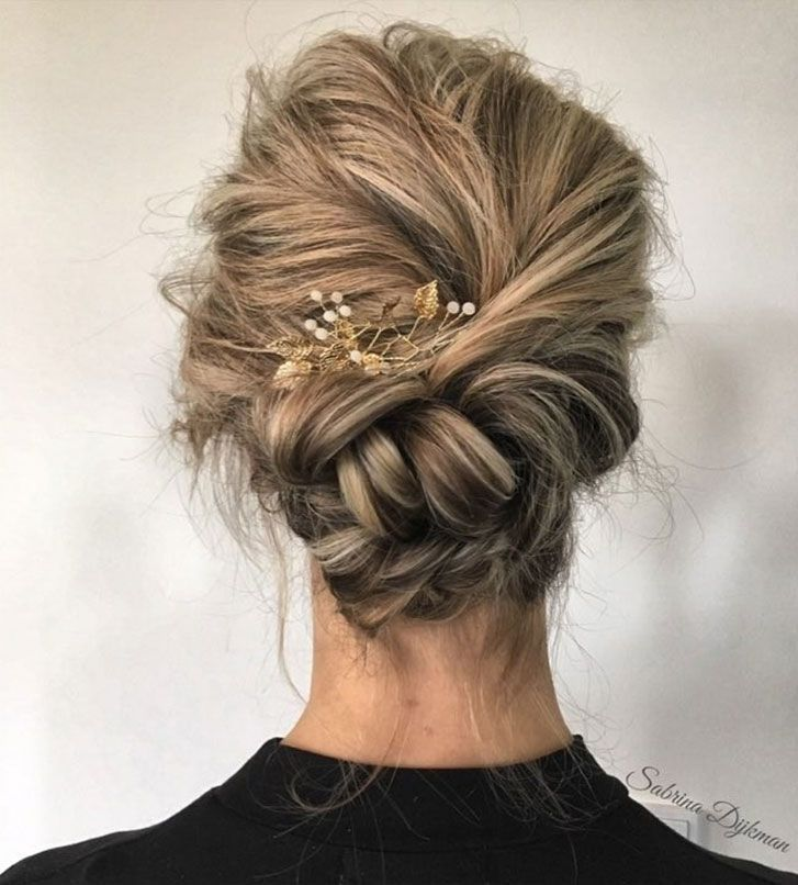 Beautiful wedding updo hairstyle ,messy updo wedding hairstyles ,chignon , braided updo hairstyles ,bridal updo #wedding #weddinghair #weddinghairstyles #hairstyleideas #updo #promhairstyle
