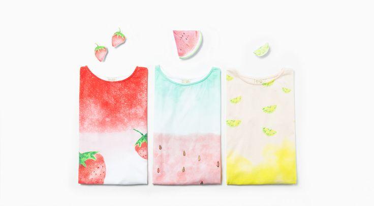 Shiny fruit T-shirt