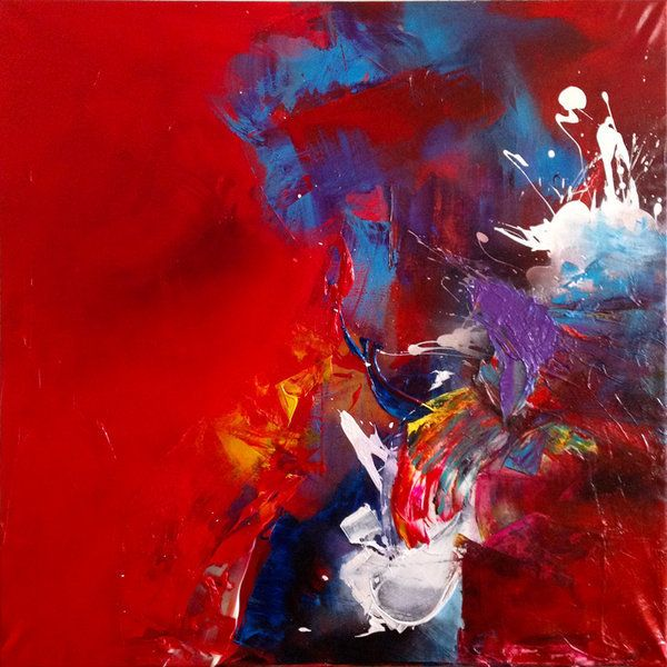 Michal Ozibko Do not ask why red 195x195cm Acrylic on canvas 2012