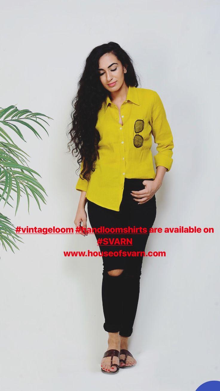 #vintageloom #handloomshirts are available on #SVARN