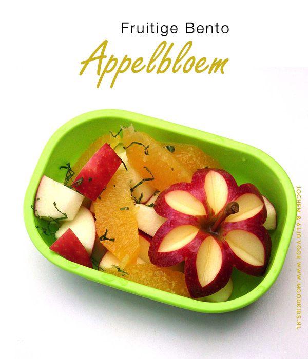 Leer zelf een bento appelbloem maken voor in de lunchtrommel van je kind. Met deze stap voor stap uitleg en foto's lukt het je met wat oefening echt! #appel
