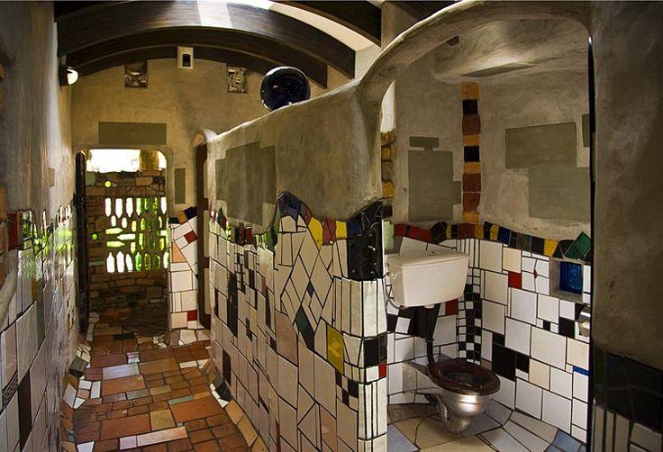 Public Hundertwasser Toilets at Kawakawa, see more at New Zealand Journeys app for iPad www.gopix.co.nz