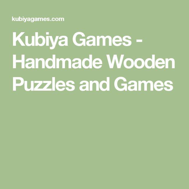 Kubiya Games - Handmade Wooden Puzzles and Games