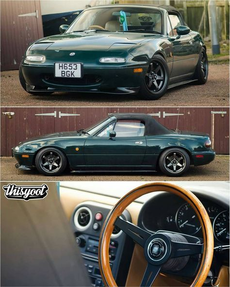 Mx5 Mazda, Mazda Roadster, Modified Cars, Japanese Cars, Import Cars,  Custom Cars, Mx5 Tuning, Vintage Cars, Slammed Cars
