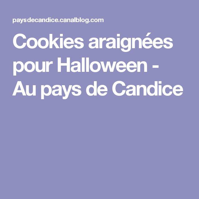 Cookies araignées pour Halloween - Au pays de Candice