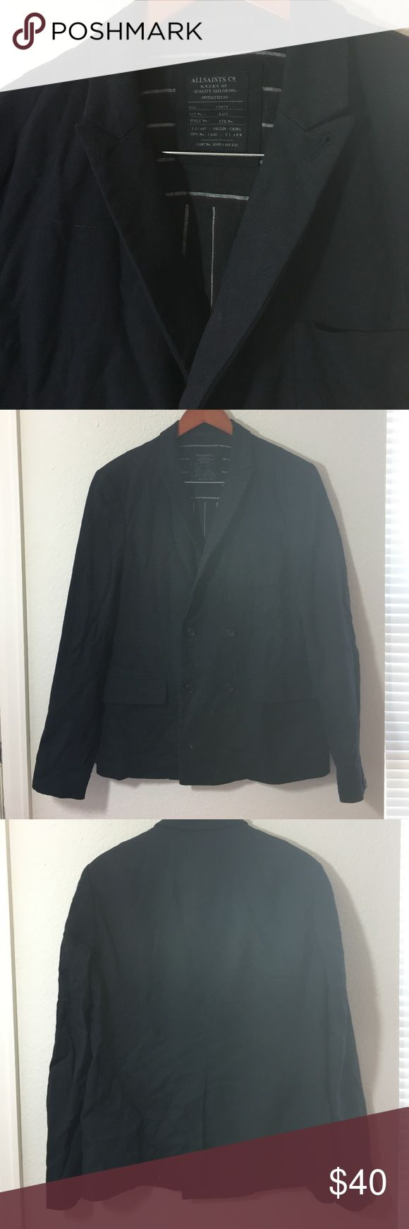 All Saints double breasted blazer Nicely made double breasted men's blazer. Excellent condition All Saints Suits & Blazers Sport Coats & Blazers