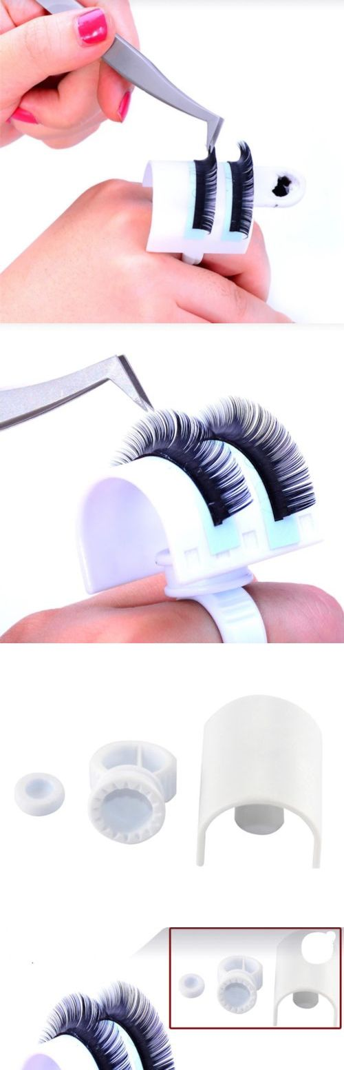 Eyelash Tools: 10 Sets Lash Holder Ring Whit Glue Plate For Eyelash Extension -> BUY IT NOW ONLY: $43.75 on eBay!
