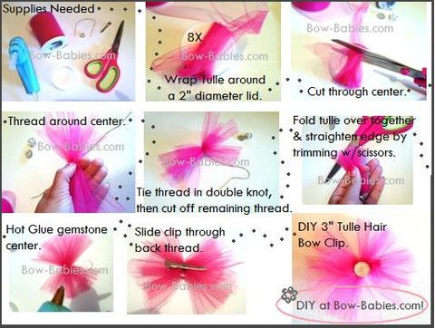 fabric hair bow instructions