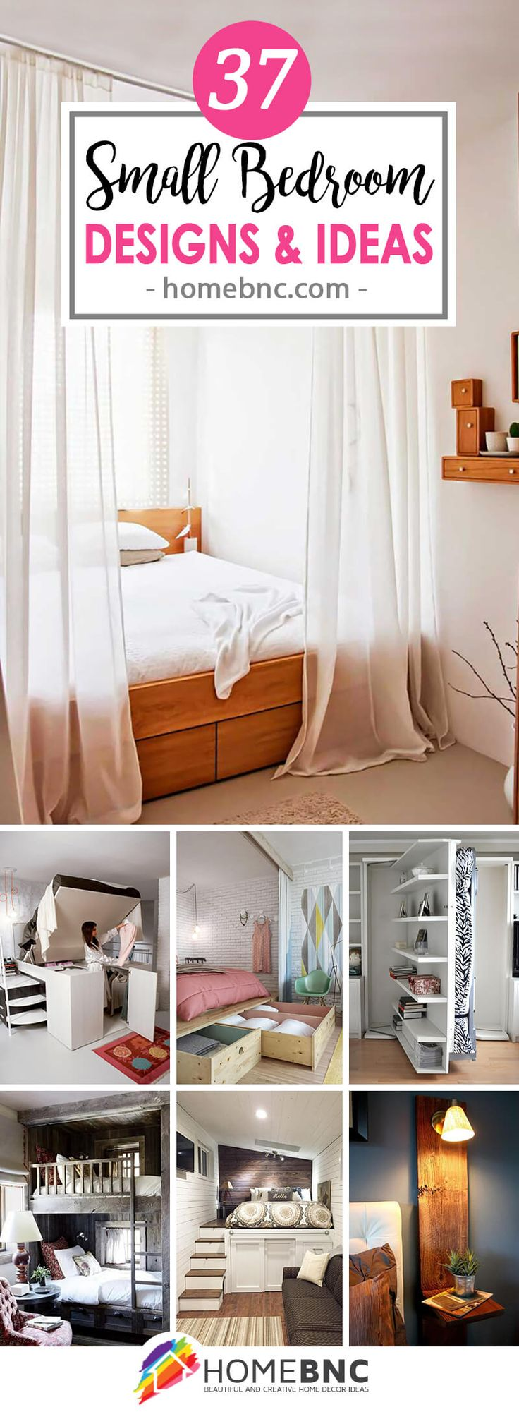 37 small bedroom designs and ideas for maximizing your small space that pop - Decorative Ideas For Bedroom
