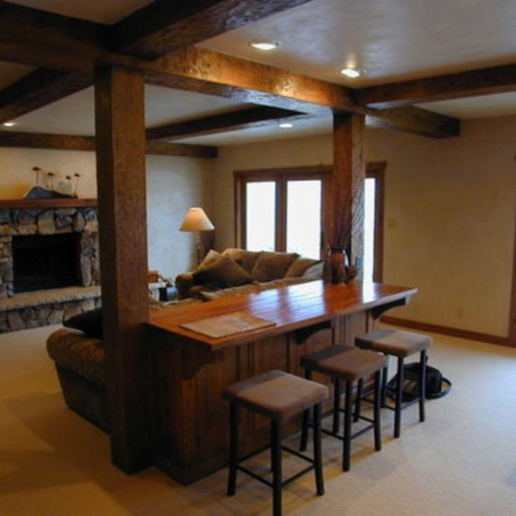 12 Basement Bar Designs Ideas: 29 Best Hiding Support Columns And Beams Images On
