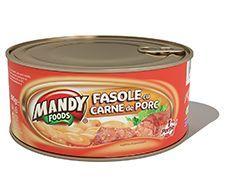 Fasole cu Carne de Porc - Conservă easy-open, 300 g