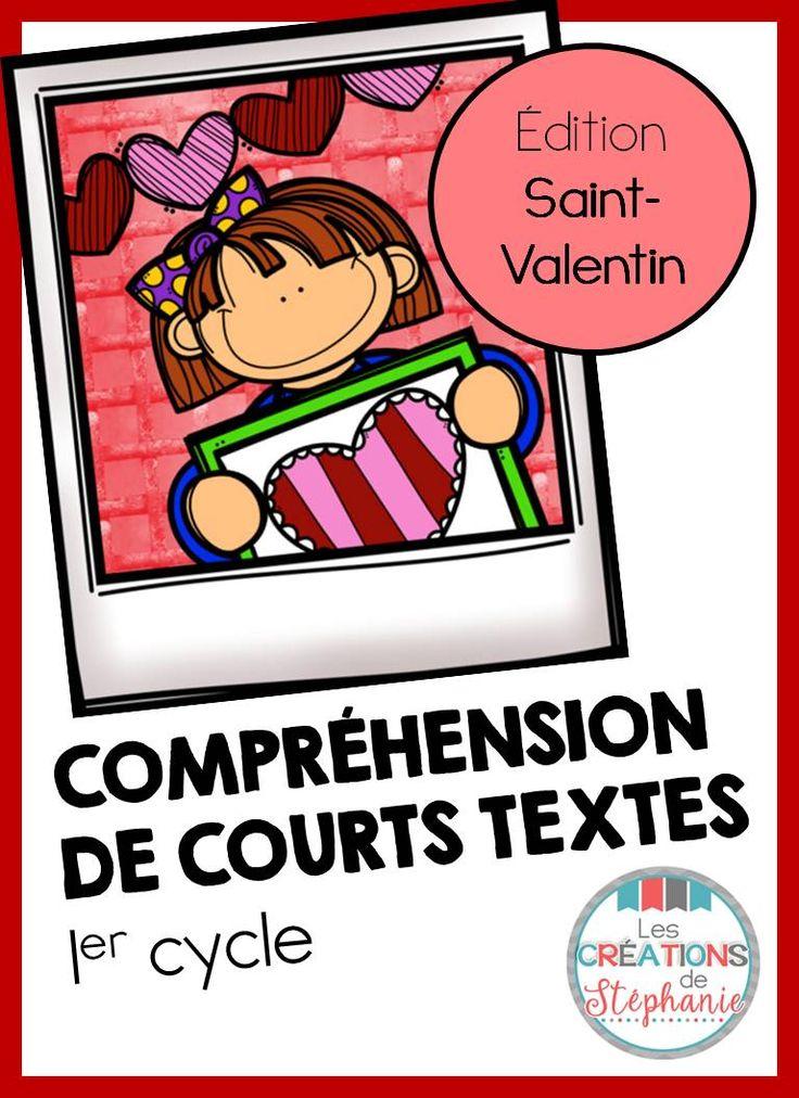 Les créations de Stéphanie : Compréhension de courts textes : Édition Saint-Valentin