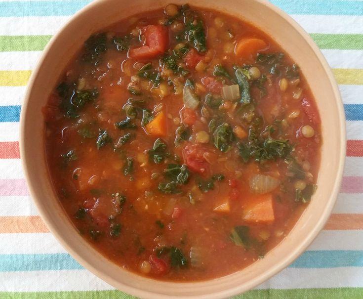 Deze linzensoep smaakt verrukkelijk. Gekruid met komijn, gevuld met tomaat, wortel en boerenkool…dit is één van de lekkerste linzensoepen ooit. En het is geen probleem als je wat overhoudt, w…
